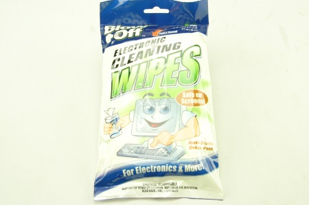 Blow-Off Electronic Wipes